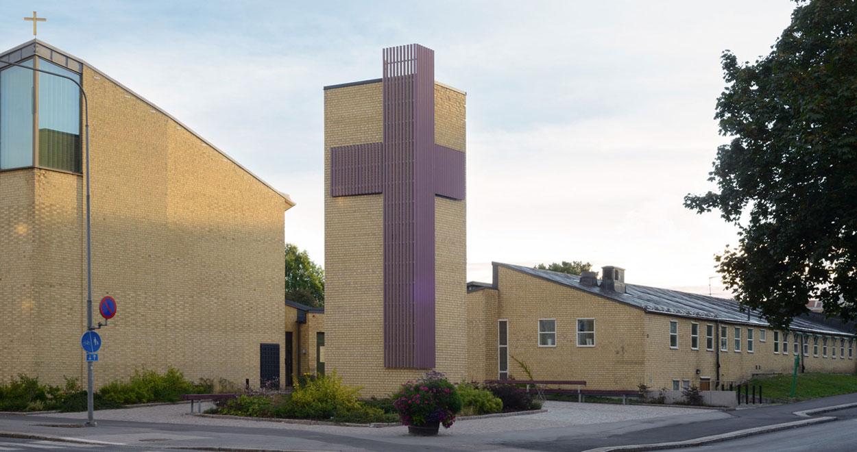 a-sidan arkitekt arkitektkontor Åkersberga kyrka arkitektur ombyggnad Svenska kyrkan Åkersberga kyrkcentrum