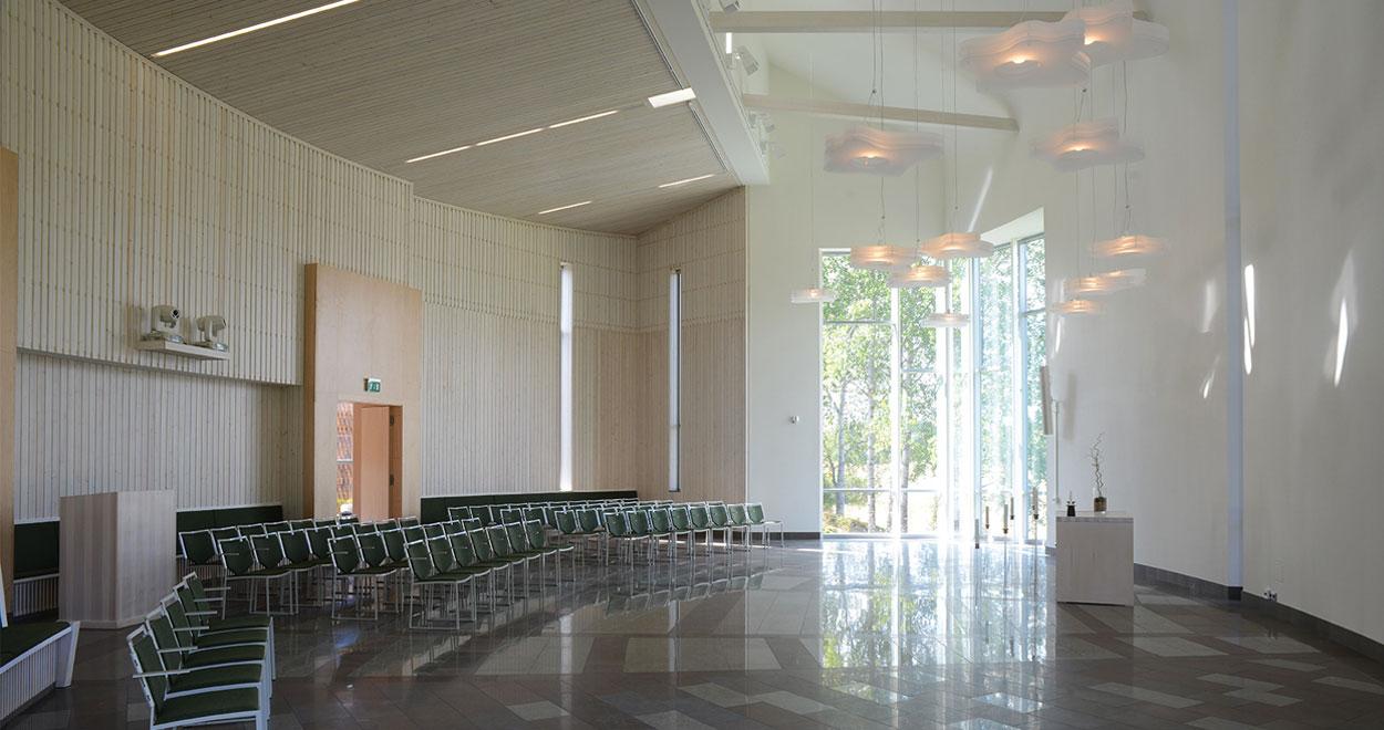 a-sidan arkitekt arkitektkontor kulturmiljö begravning ceremonilokal Österhaninge Svenska kyrkan