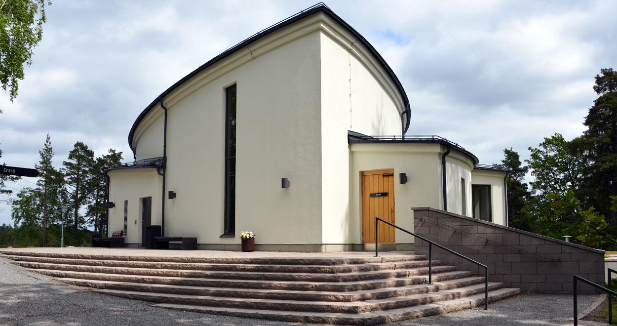 a-sidan arkitekt arkitektkontor avsked kulturmiljö begravning ceremonilokal Saltsjöboo Saltsjö-Boo Saltsjö Boo Svenska kyrkan