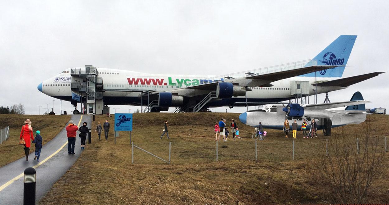 a-sidan arkitekt arkitektkontor specialuppdrag expansion Jumbostay jumbojet boeing 747 lekflygplan Oscar Diös