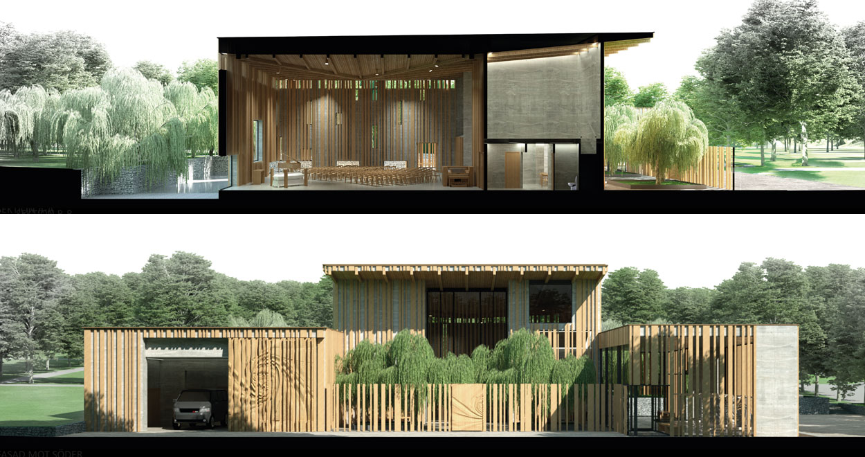 a-sidan arkitekt arkitektkontor Uppsala Stockholm ceremonilokal begravningar parallellt uppdrag Botkyrka