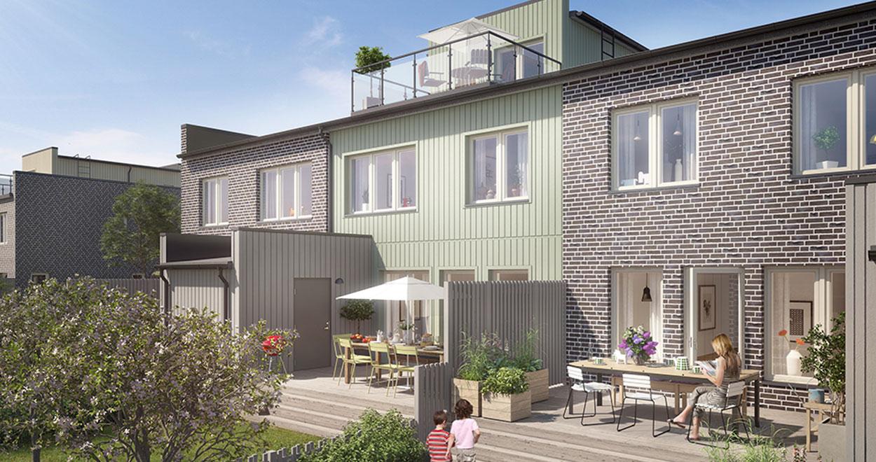 a-sidan arkitekt arkitektkontor Uppsala Stockholm Ultuna trädgårdsstad radhus Besqab hem