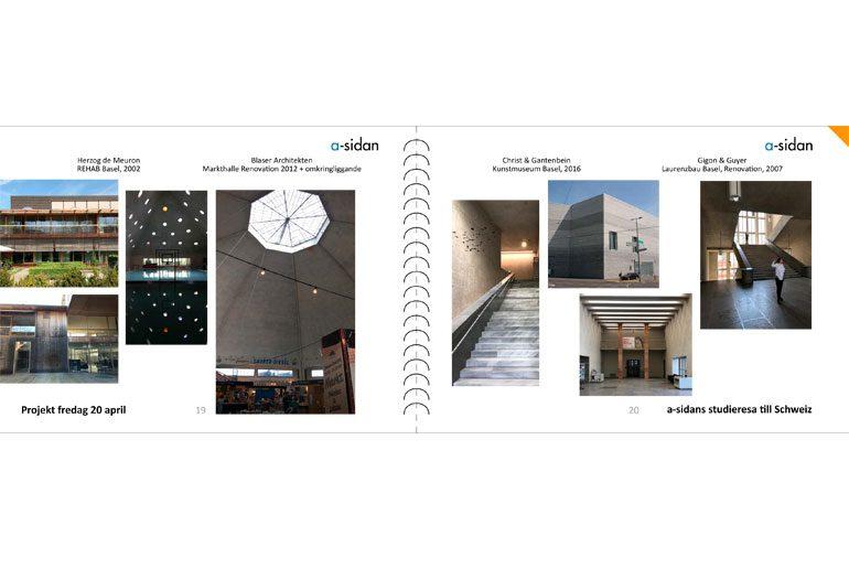 a-sidan arkitektkontor studieresa Schweiz Sverige Hus Arkitektur stadsbyggnad