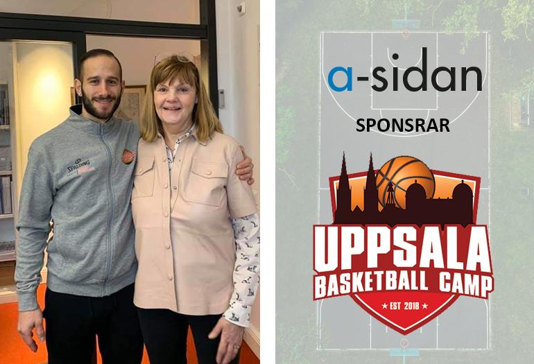 a-sidan nyhet huvudsponsor för Uppsala basketball camp arkitekt Stockholm Uppsala